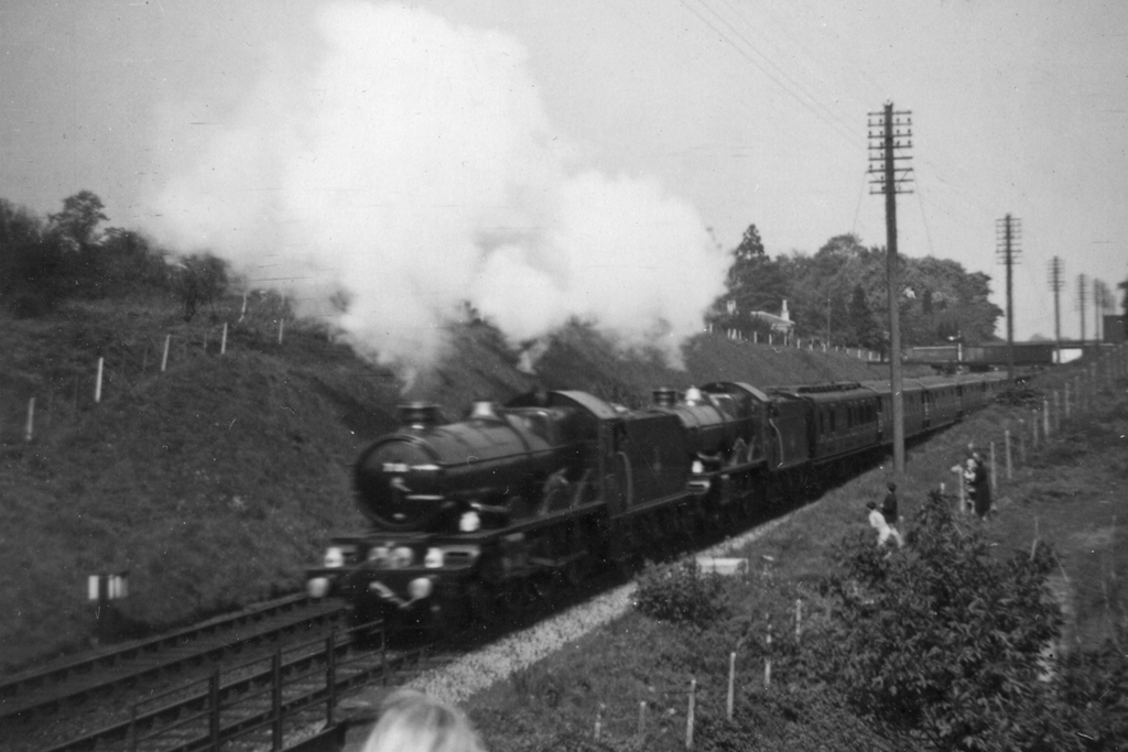 Nos.7001 & 7027 at Malvern Link in 1957