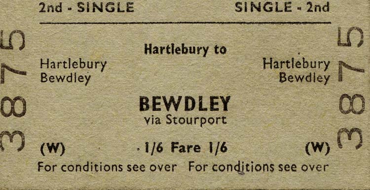 Bewdley Ticket