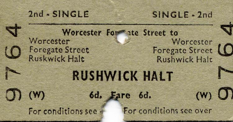 Rushwick Ticket