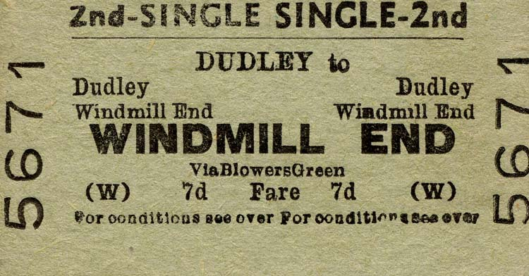 Windmill End ticket