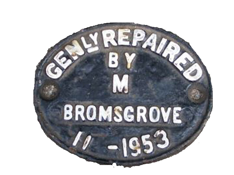 Wagon works plate