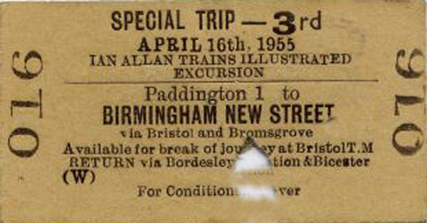 Bromsgrove ticket