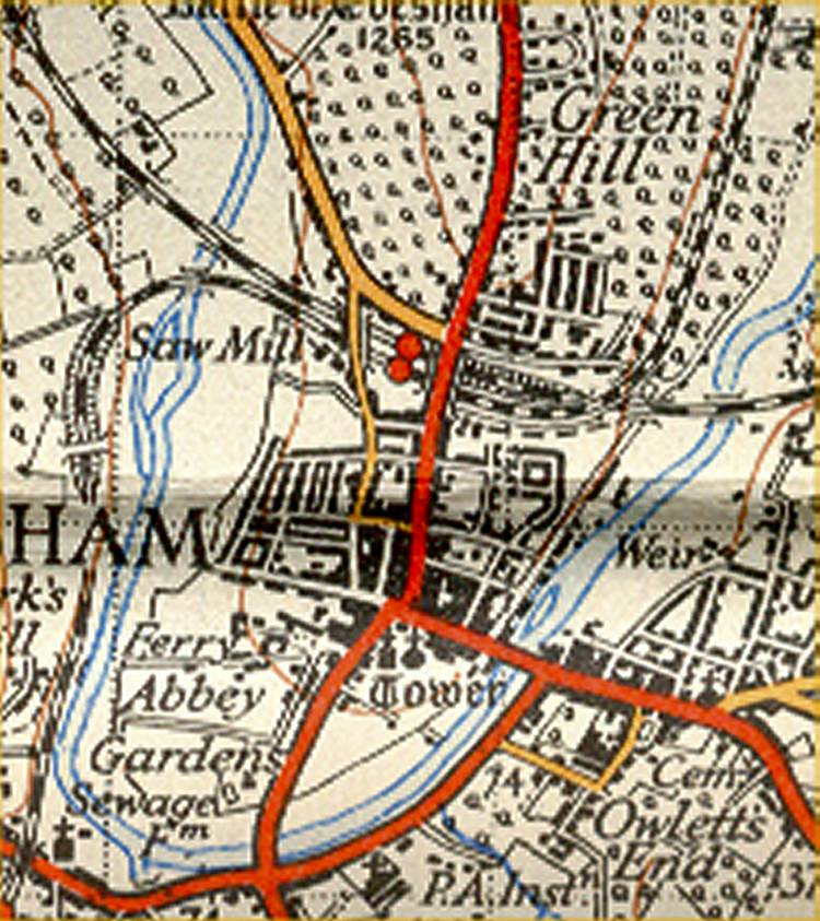 Extract from 1930 OS map