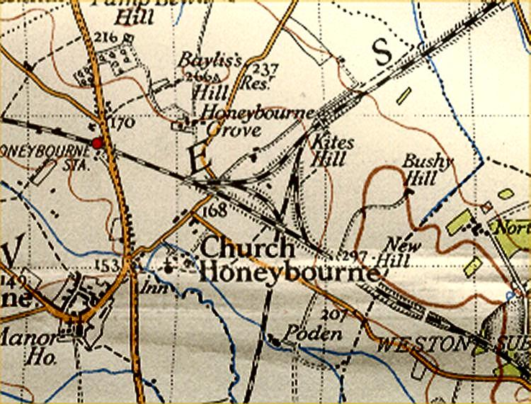 Honeybourne from 1930 OS map
