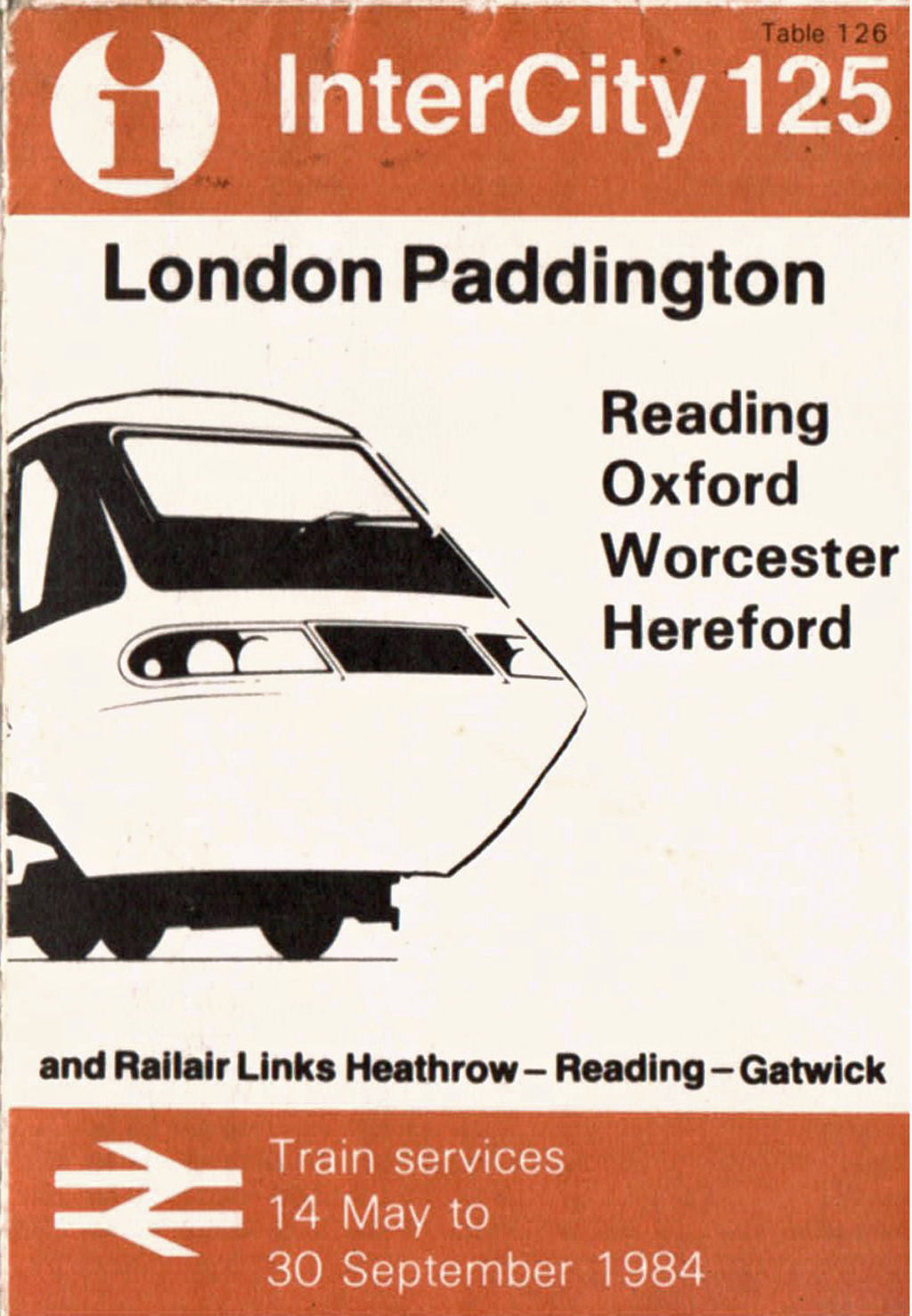 London 1984 timetable cover