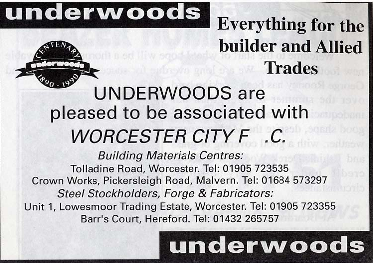 Underwoods Advert