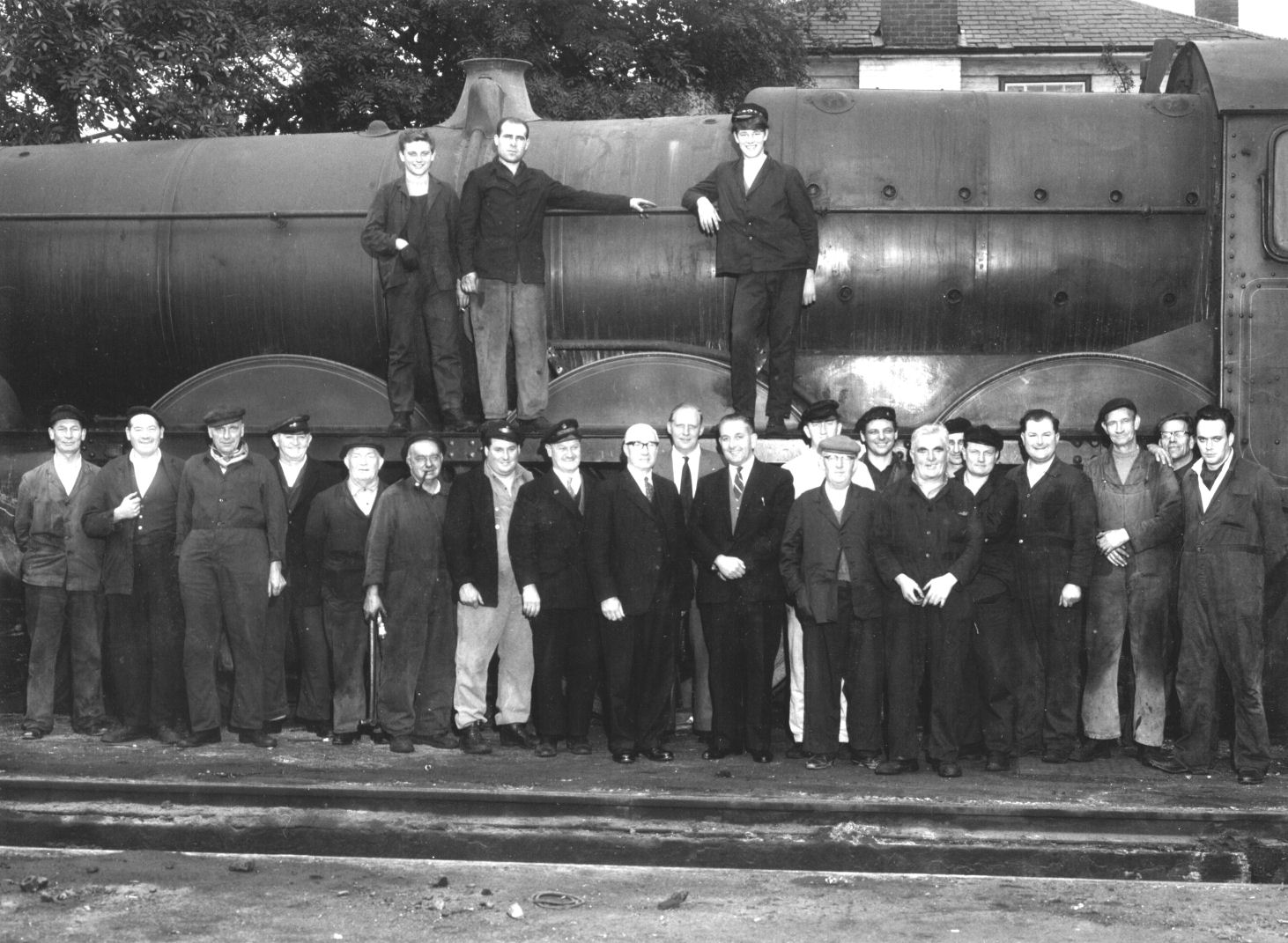 Staff at Worcester Engine Sheds